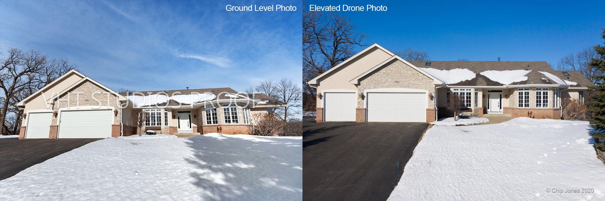 Ground Photo vs Aerial Photo